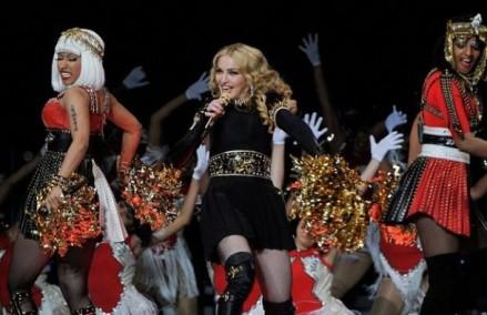 Madonna performing at the Super Bowl